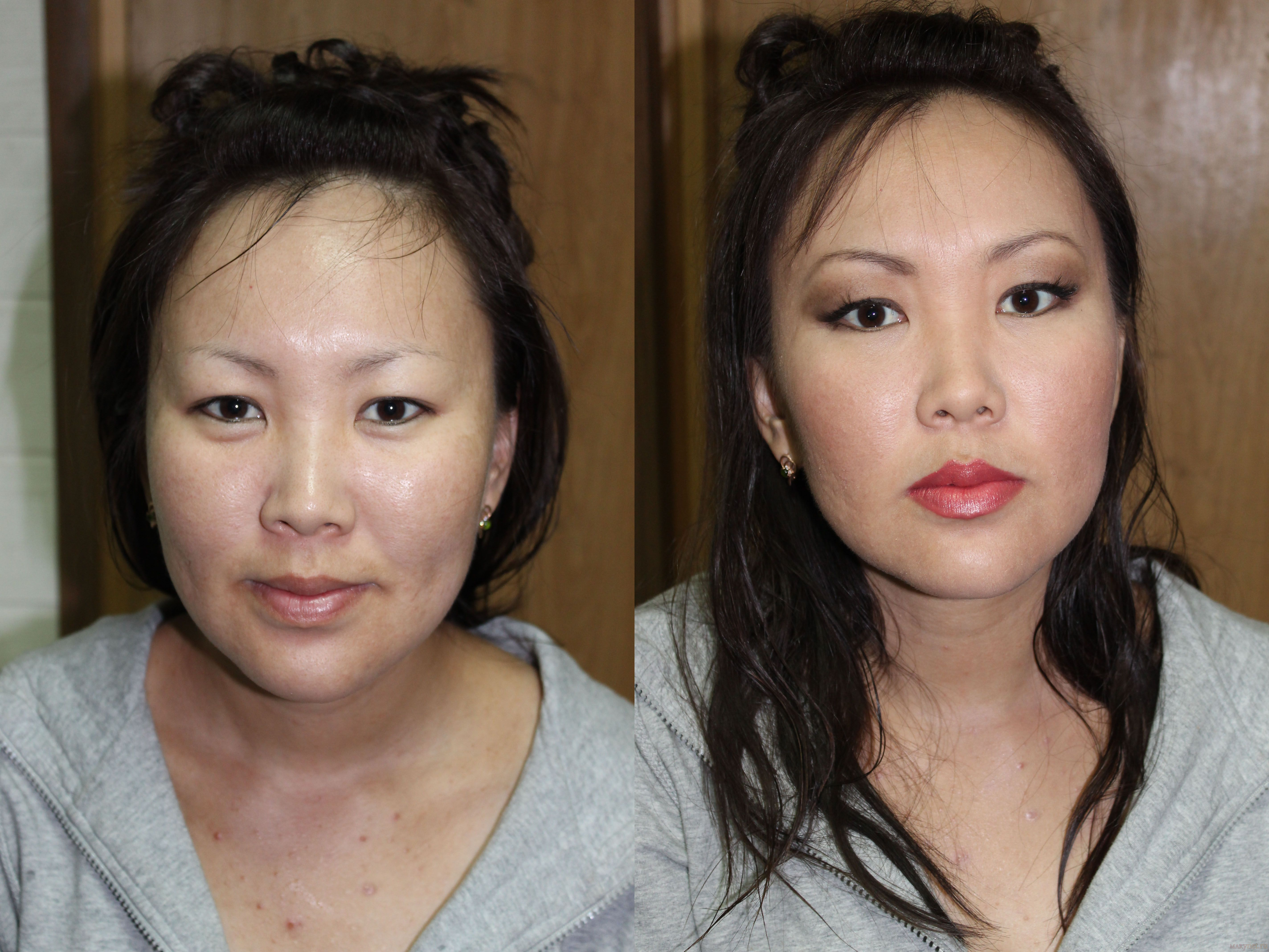 Макияж до и после фото мастер класс